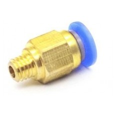 Product picture: PC4-M5 Pneumatic Connector for Bowden Extruder – M5 Thread Push Fitting – PTFE